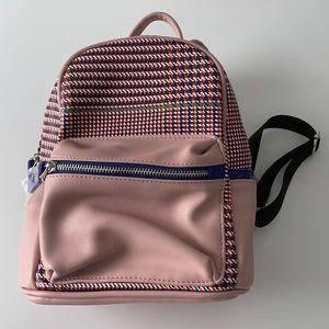 Like Dreams Houndstooth Print Mini Blush Backpack